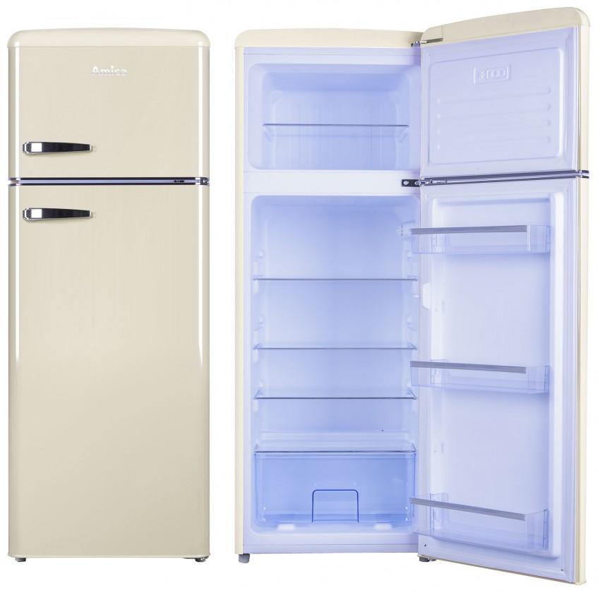 S mrazákem nahoře Kombinovaná lednice s mrazákem nahoře Amica VD 1442 AM