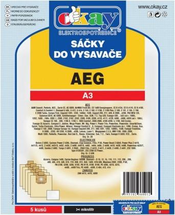 Sáčky do vysavače AEG A3 10ks