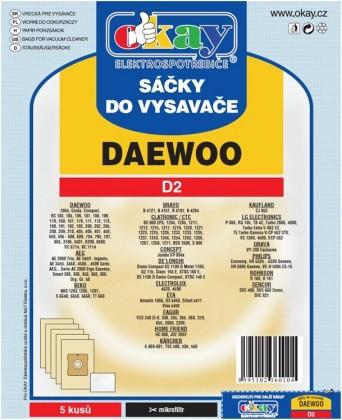 Sáčky do vysavače Sáčky do vysavače Daewoo D2 10ks