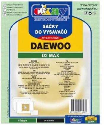 Sáčky do vysavače Sáčky do vysavače Daewoo D2MAX, 4ks