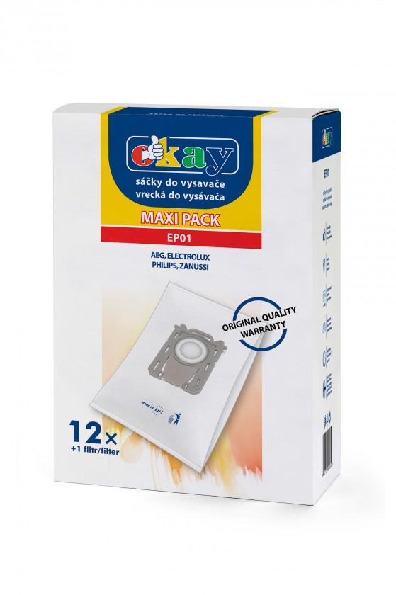 Sáčky do vysavače Sáčky do vysavače Electrolux EP01 S-bag, 12 + 1x filtr