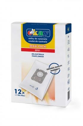 Sáčky do vysavače Sáčky do vysavače Electrolux S-bag (EP01) 12+1x filtr