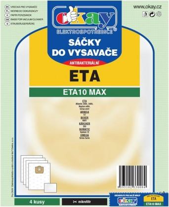 Sáčky do vysavače Sáčky do vysavače ETA 10 MAX 8ks