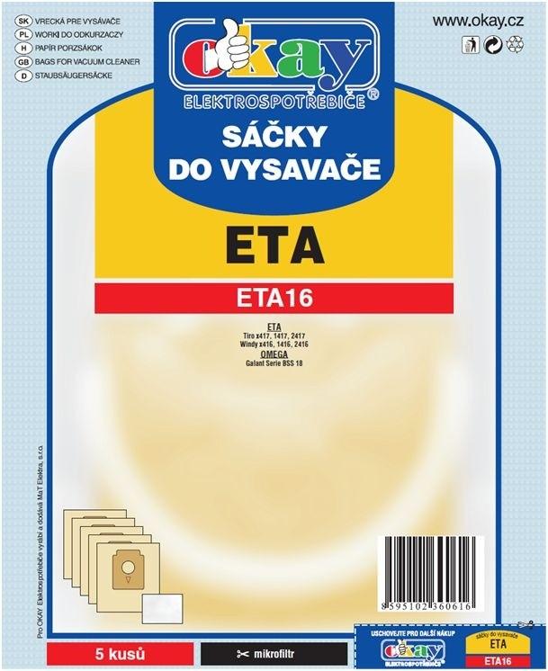 Sáčky do vysavače Sáčky do vysavače ETA 16 10ks