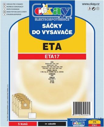 Sáčky do vysavače Sáčky do vysavače ETA 17 10ks
