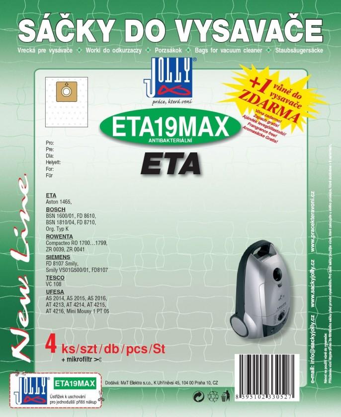 Sáčky do vysavače Sáčky do vysavače ETA 19 MAX 8ks