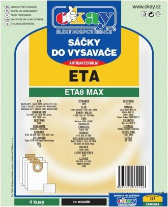 Sáčky do vysavače Sáčky do vysavače ETA 8 MAX antibakteriální 8ks