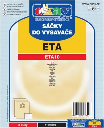Sáčky do vysavače Sáčky do vysavače Eta ETA 10, 6ks