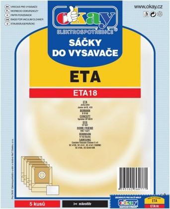 Sáčky do vysavače Sáčky do vysavače Eta ETA 18, 10ks
