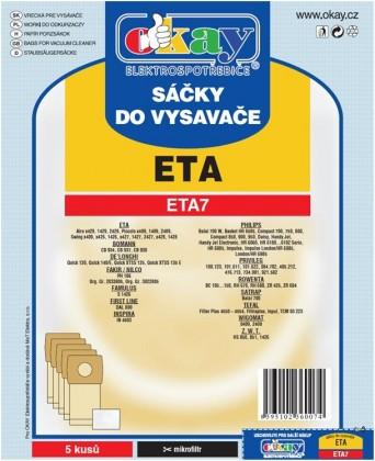 Sáčky do vysavače Sáčky do vysavače Eta ETA 7, 10ks
