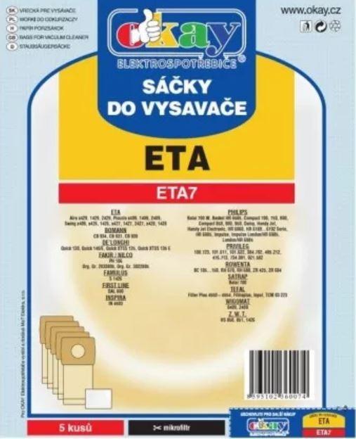 Sáčky do vysavače Sáčky do vysavače Eta ETA7, 5ks