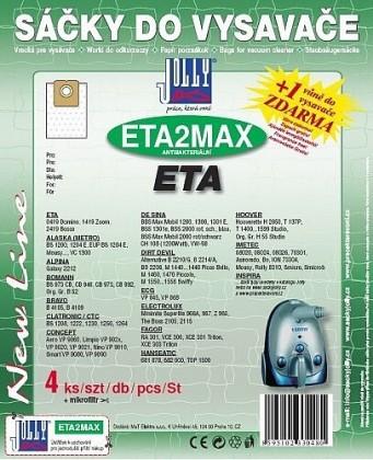 Sáčky do vysavače Sáčky do vysavače Eta MAXETA2, 4ks
