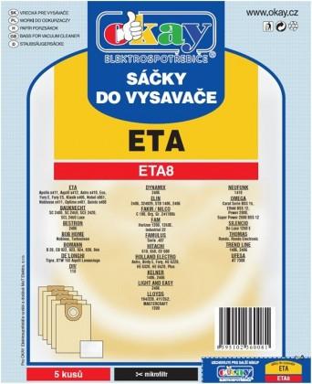 Sáčky do vysavače Sáčky do vysavače ETA8 10ks