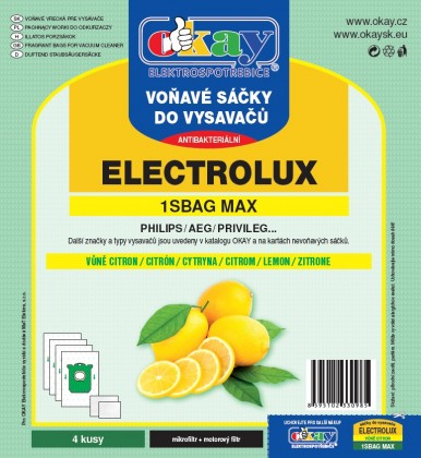 Sáčky do vysavače Sáčky do vysavače Jolly MAX1SBAG, vůně citron, 4ks
