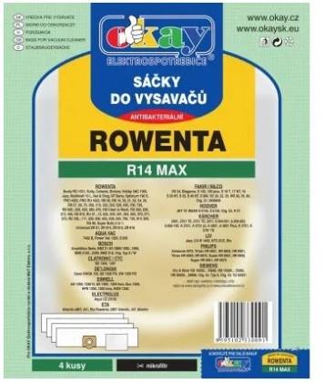 Sáčky do vysavače Sáčky do vysavače Rowenta MAXR14, 4ks