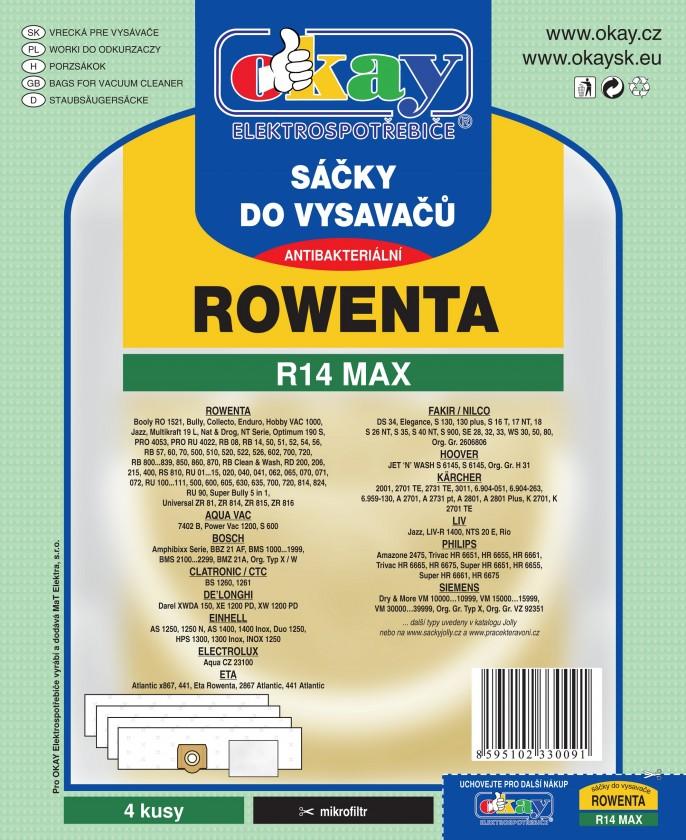 Sáčky do vysavače Sáčky do vysavače Rowenta R14 MAX, 8ks