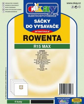 Sáčky do vysavače Sáčky do vysavače Rowenta R15 MAX, 8ks