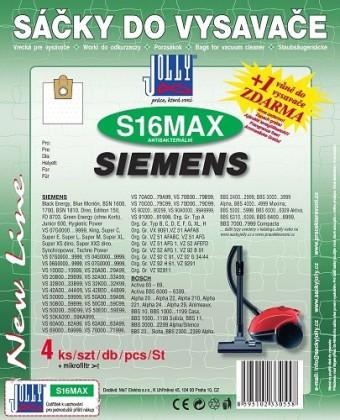 Sáčky do vysavače Sáčky do vysavače SIEMENS, BOSCH S16 MAX Jolly (4ks) textilní