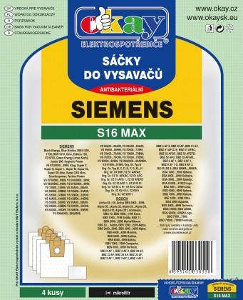 Sáčky do vysavače Sáčky do vysavače Siemens S16 MAX 8ks