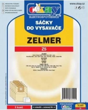 Sáčky do vysavače Sáčky do vysavače Zelmer Z5, 5ks