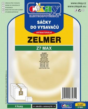 Sáčky do vysavače Sáčky do vysavače Zelmer Z7MAX, 4 ks