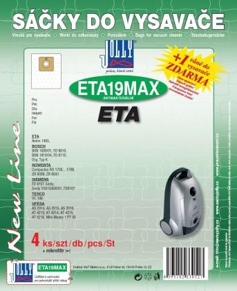Sáčky do vysavače Sáčky do vysavačů ETA19 MAX 8ks