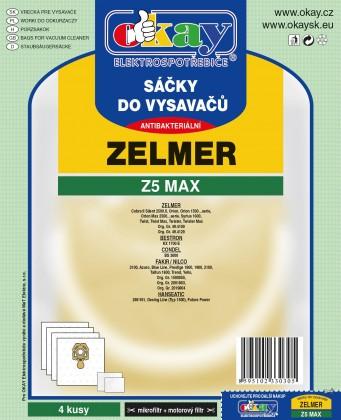 Sáčky do vysavače Sáčky Z5 MAX do vysavače Zelmer 4ks