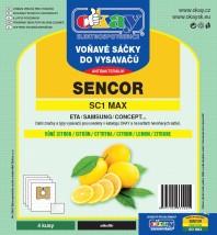Sáčky do vysavače Sencor MAXSC1, vůně citron, 4ks