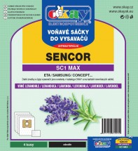 Sáčky do vysavače Sencor MAXSC1, vůně levandule, 4ks