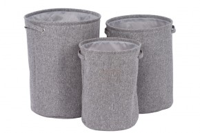 Sada košů na prádlo (3 kusy, šedá)