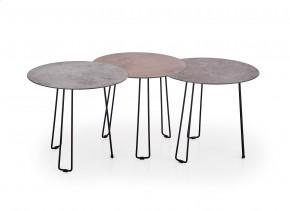 Sada tří konferenčních stolků Triple (imitace kamene)