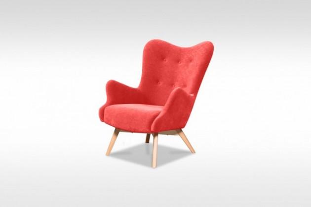 Samostatná křesla Křeslo Glamour červená