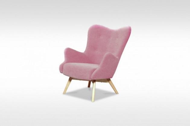 Samostatná křesla Křeslo Glamour růžová