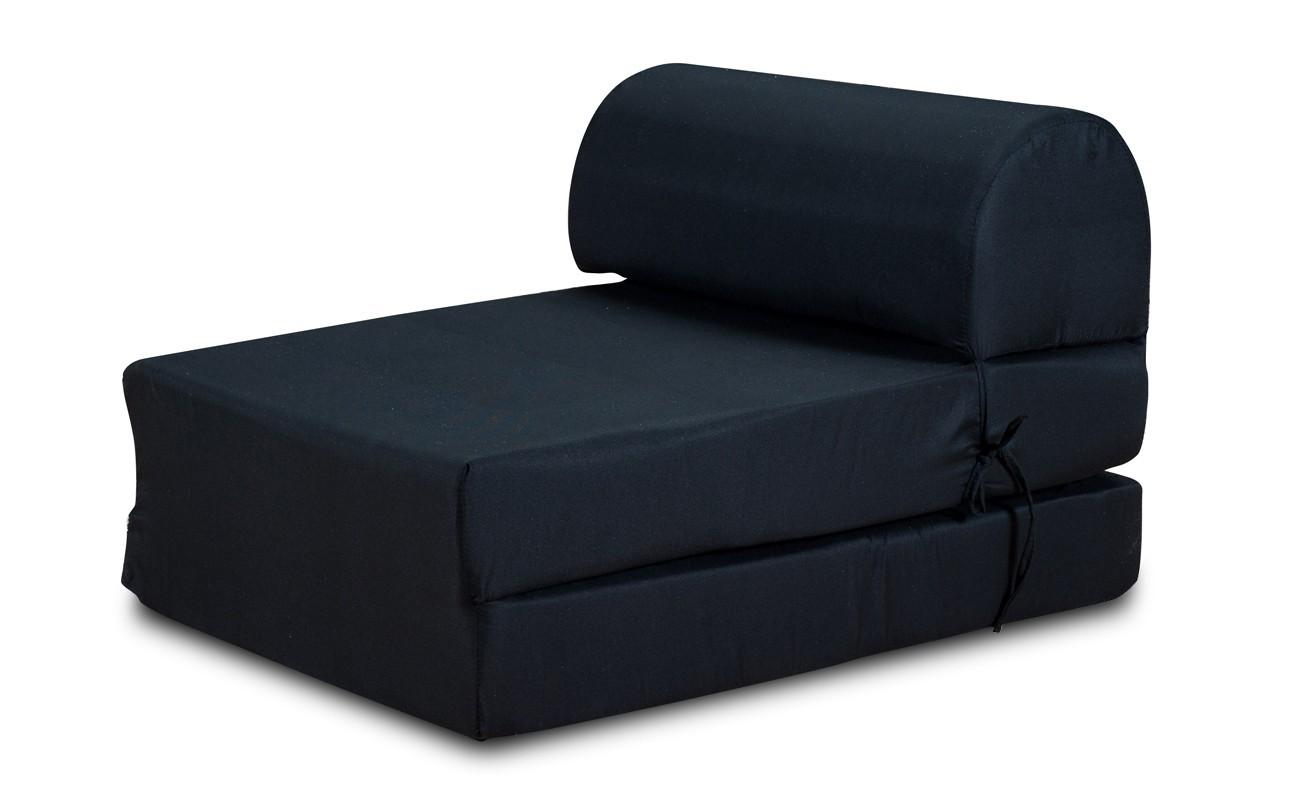 Samostatná křesla Křeslo Marino rozkládací černá
