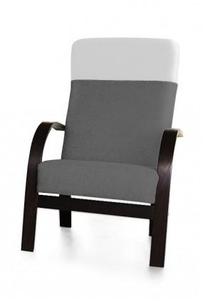 Samostatné křeslo Laura - křeslo (sedák - orinoco 96/pruh - eko kůže)