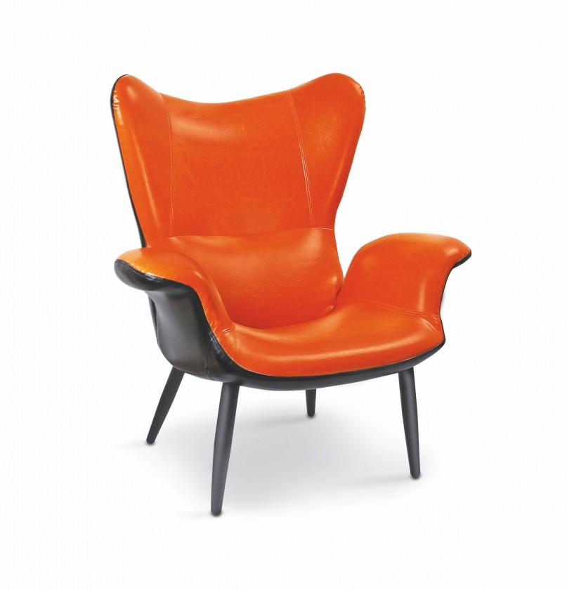 Samostatné křeslo Pegas-M - Křeslo (eko kůže oranžovo-černá)