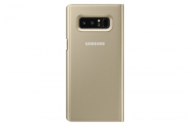 Samsung Clear View Cover pro NOTE 8 Gold
