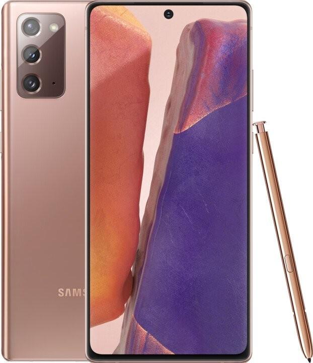 Samsung Galaxy Note Mobilní telefon Samsung Galaxy Note 20 8GB/256GB, bronzová