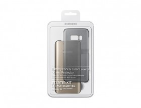 Samsung Kit (Battery Pack+ClearCover) pro S8 Black