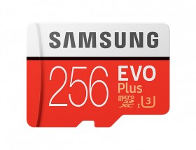 Samsung Micro SDXC EVO Plus 256GB UHS-I U3+adaptérMB-MC256GA/EU