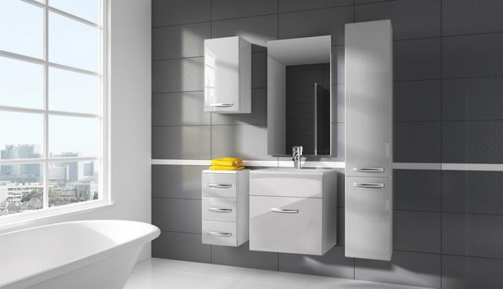 San Marino - koupelnová sestava s umyvadlem (bílá)