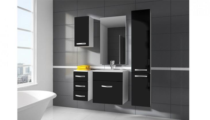 San Marino - koupelnová sestava s umyvadlem (černá)