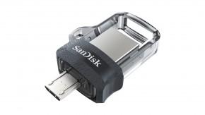 SanDisk Flash Disk 128GB Dual USB Drive m3.0 Ultra, OTG