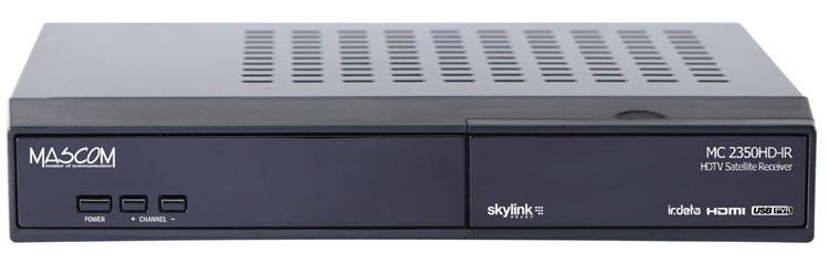 Satelitní přijímač Mascom MC2350HD-IR, Skylink