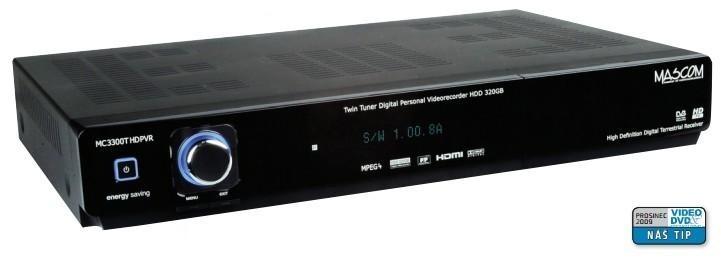 Satelitní příjímač Mascom MC5300HDPVR