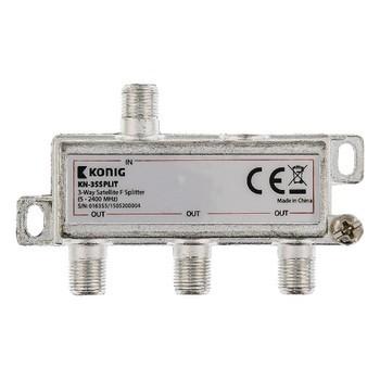 Satelitní příslušenství KÖNIG satelitní rozbočovač 11.0 dB / 5-2400 MHz - 3 výstupy