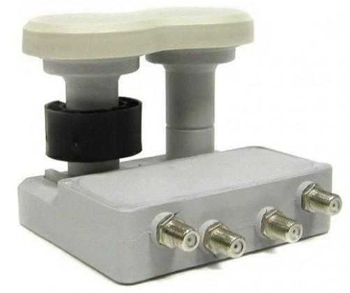 Satelitní příslušenství LNB Mascom Monoblock Quad MCM4QS01HD Gold 4.3°