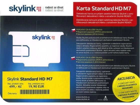 Satelitní příslušenství Mascom Karta Skylink Standard HDIRM7