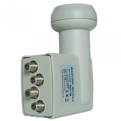Satelitní příslušenství Mascom MCQS02HD Quad LNB 0.2dB