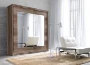 Šatní skříň Alfa - 200x215x60 cm, zrcadlo (dub country)